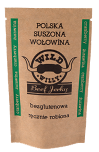 Wild Willy Beef Jerky Cranberry - żurawina